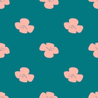 Wektor wzór tropikalnych kwiatów. bezproblemowa konstrukcja z prostymi elementami botanicznymi. aloha hawaje wektor edytowalny plik. pastelowe kolory tonowe