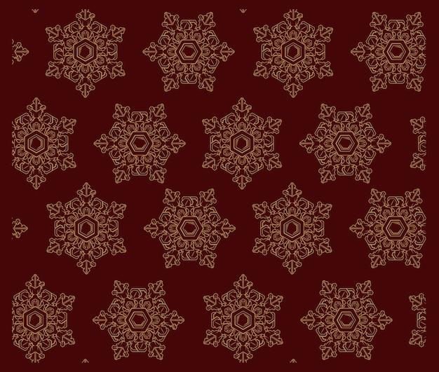 Wektor wzór z płatki śniegu. idealnie nadaje się do dekoracji, drukowania tekstyliów, grafiki, pocztówek i wielu innych zastosowań