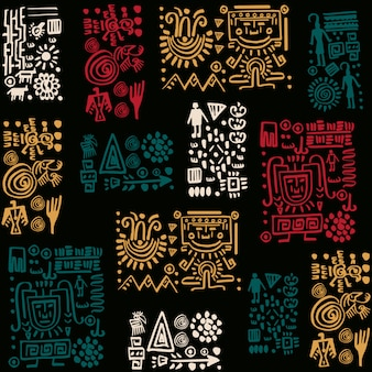 Wektor wzór z plemiennych elementów