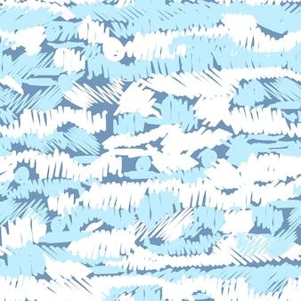Wektor wzór z ręcznie rysowane pociągnięcia pędzlem i ręcznie malowane paski