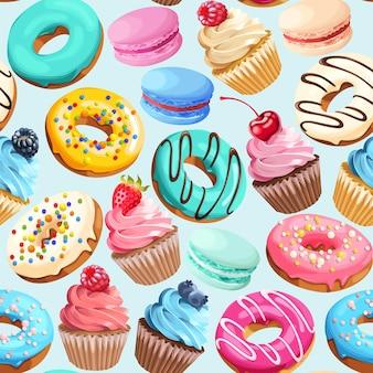 Wektor wzór z różnobarwnymi słodyczami