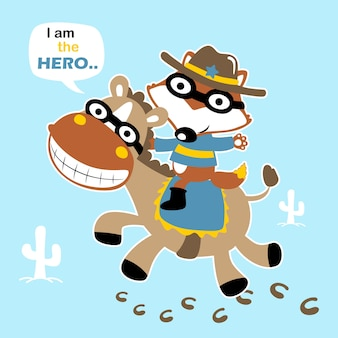 Wektor zabawny kowbojski kreskówka