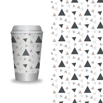 Wektor zabrać szablony do pakowania kawy i elementy projektu dla kawiarni