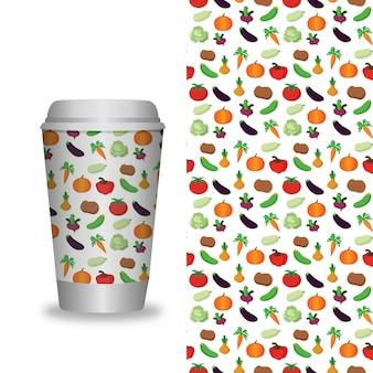 Wektor zabrać szablony opakowań kawy i elementy projektu dla kawiarni