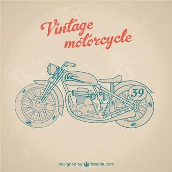 Wektor zabytkowe motocykl