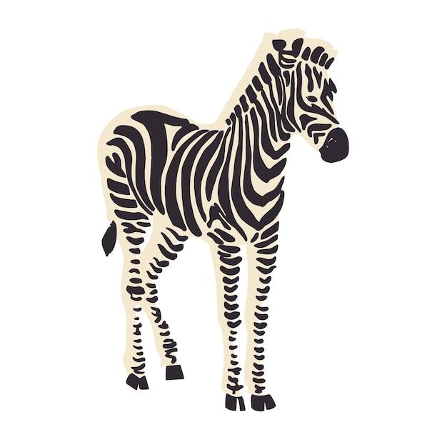 Wektor zasób graficzny ilustracji zwierząt zebra