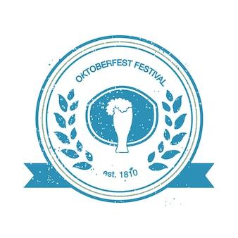 Wektor zbiory oktoberfest ręcznie rysowane szablony logo. niemieckie logotypy festiwalowe. vintage odznaki i ikony. ręcznie zarysowane nowoczesne ikony. etykiety oktoberfest.