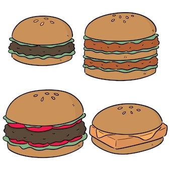 Wektor zestaw burger