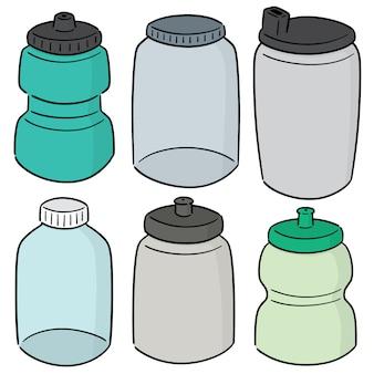 Wektor zestaw butelka wody