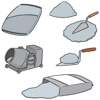 Wektor zestaw cementu