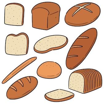 Wektor zestaw chleba