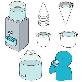 Wektor zestaw chłodnicy wody