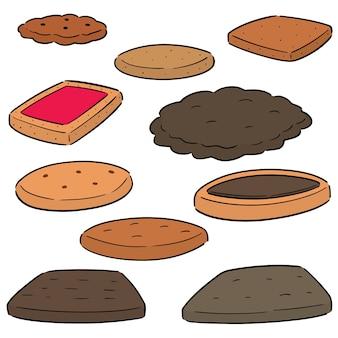 Wektor zestaw ciasteczek i herbatników