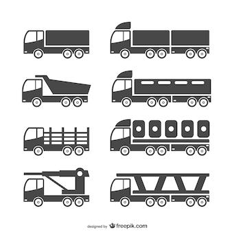 Wektor zestaw ciężkich pojazdów
