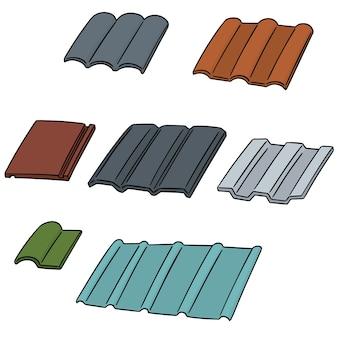 Wektor zestaw dachówki