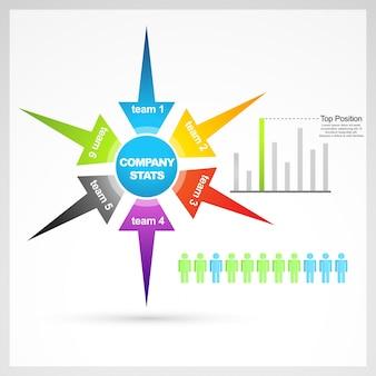 Wektor zestaw elementów biznesowych