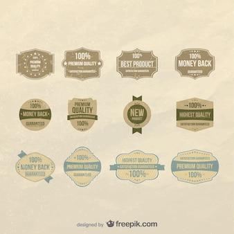 Wektor zestaw etykiet jakości
