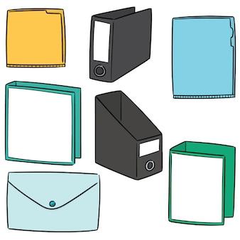 Wektor zestaw folderów