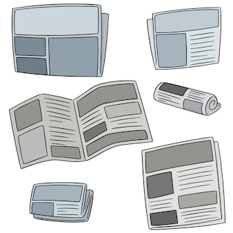 Wektor zestaw gazet