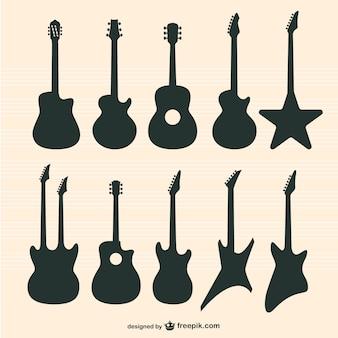 Wektor zestaw gitary