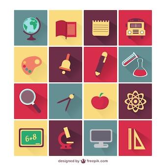 Wektor zestaw ikon szkoła edukacja