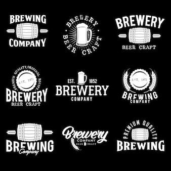 Wektor zestaw ilustracji logo piwa