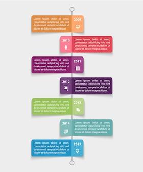 Wektor zestaw kolorowych naklejek papierowych, bąbelków, infografiki kroków z ikonami
