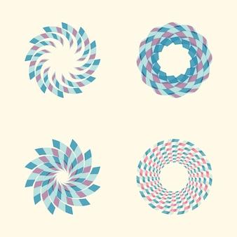 Wektor zestaw kolorowych okrągłych znaków streszczenie.