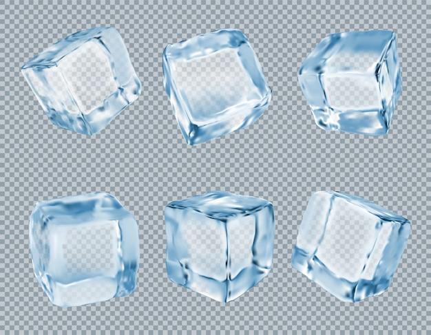 Wektor zestaw kostek lodu