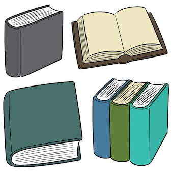 Wektor zestaw książek