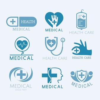 Wektor zestaw logo usług medycznych