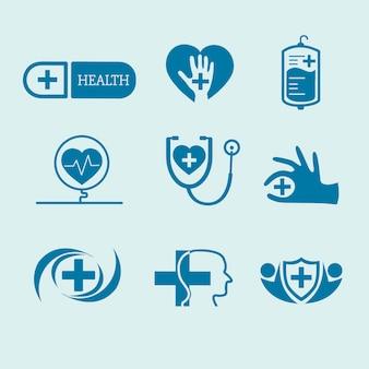 Wektor zestaw logo usługi medyczne