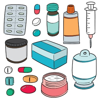 Wektor zestaw medycyny