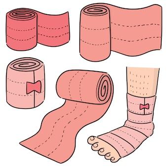 Wektor zestaw medyczny bandaż
