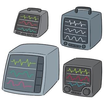 Wektor zestaw monitora życiowego monitora
