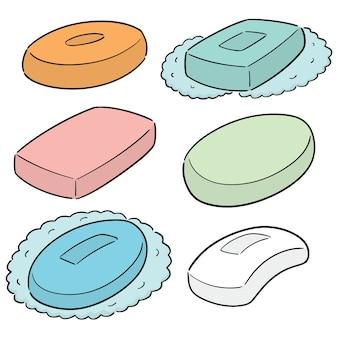 Wektor zestaw mydła
