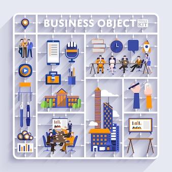 Wektor zestaw narzędzi biznesowych