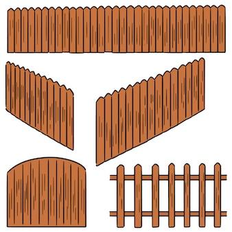 Wektor zestaw ogrodzenia