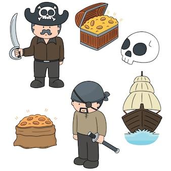 Wektor zestaw piratów