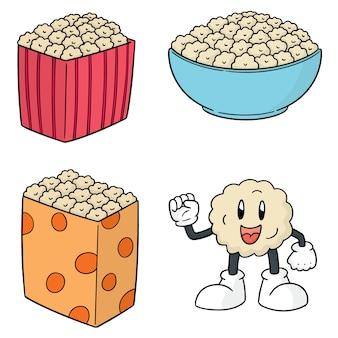 Wektor zestaw popcorn