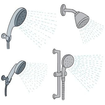 Wektor zestaw prysznic