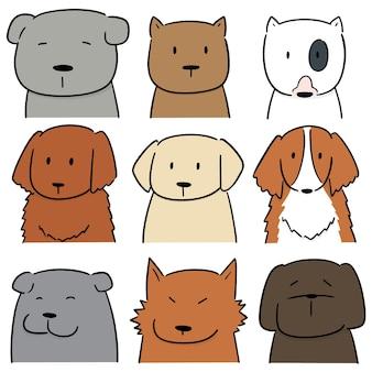 Wektor zestaw psa