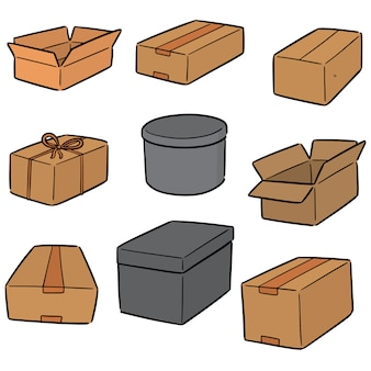 Wektor zestaw pudełek