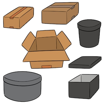 Wektor zestaw pudełko