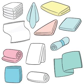 Wektor zestaw ręcznik
