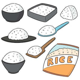 Wektor zestaw rices