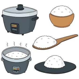 Wektor zestaw ryżu