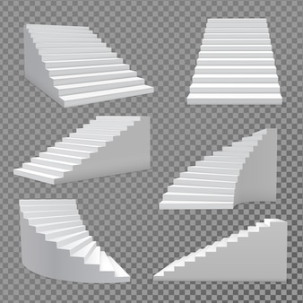 Wektor zestaw schodów