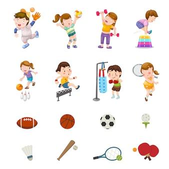 Wektor zestaw sportowy