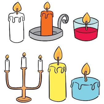 Wektor zestaw świeca